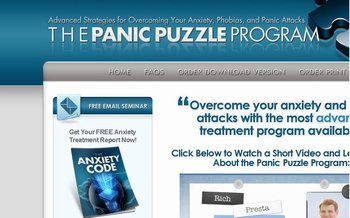 The Panic Puzzle website