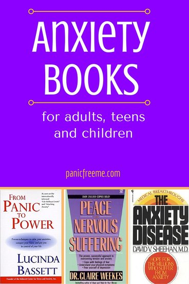 anxiety books for adults teens and children