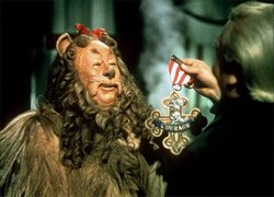 wizard of oz cowardly lion courage