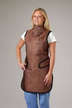 lead apron with collar