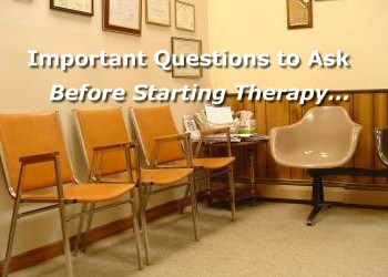 Questions to ask before starting therapy