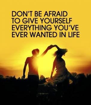 dont' be afraid