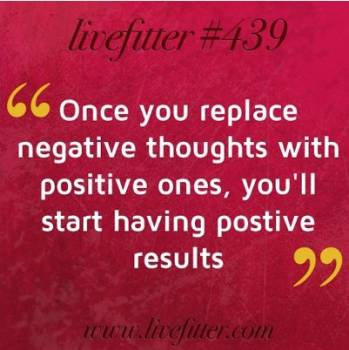 replace negative thoughts