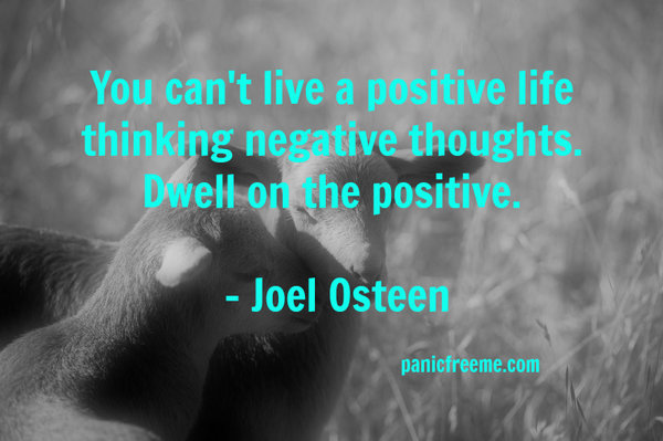 You cant live a positive life thinking negative thoughts. Dwell on the positive.
