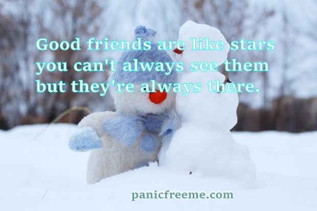 good friends are like stars you cant always see them but theyre always there