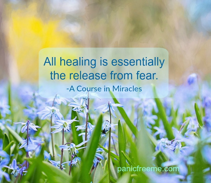 all healing is essentially the release from fear